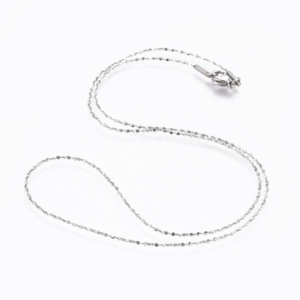 18 Inch Diamond Cut Stainless Steel Chain