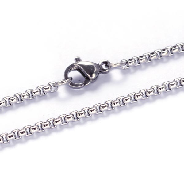 22 inch 2mm Stainless Steel Cross Chain