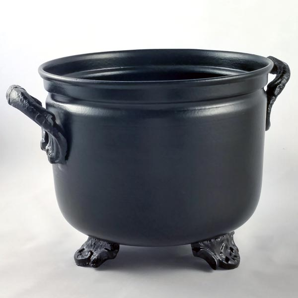 Large Black Metal Cauldron