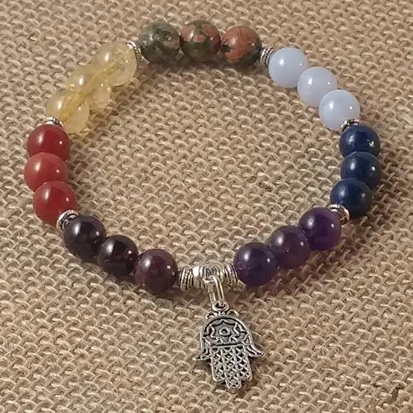 7 Chakra Mala Stretchy Bracelet