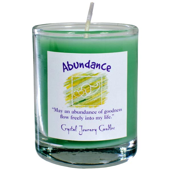 Abundance Soy Votive Candle in Glass Holder