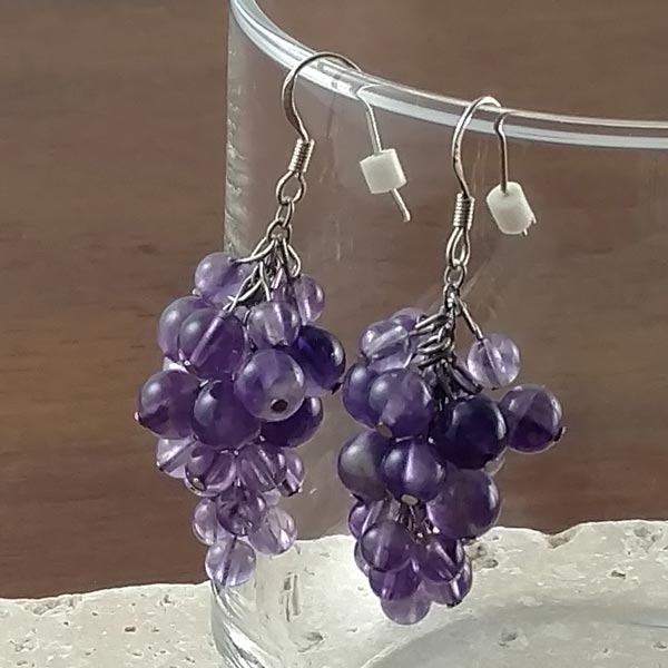 Amethyst Grapes Earrings