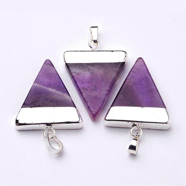 Amethyst Triangle Pendant