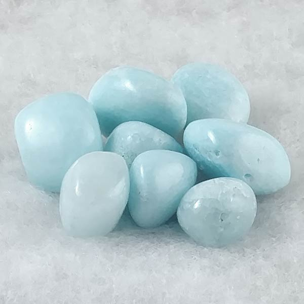 Blue Aragonite Tumbled Stones
