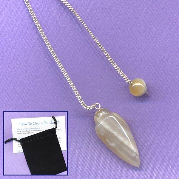 Banded Agate Bullet Pendulum