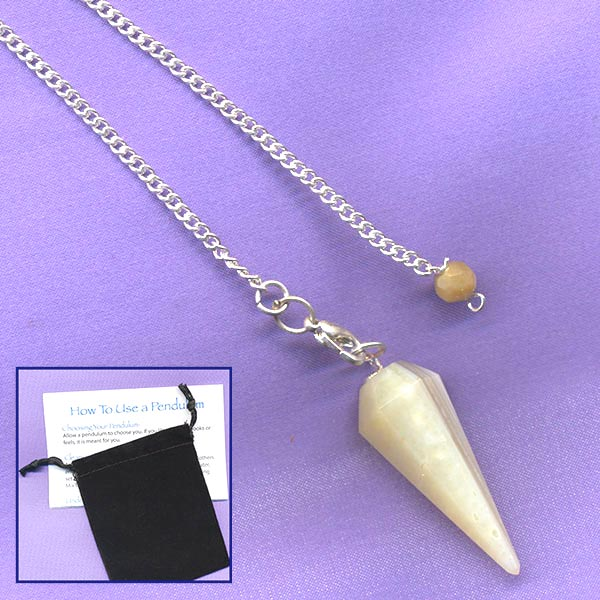 Banded Agate Faceted Pendulum