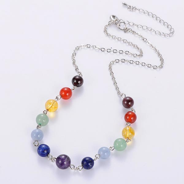 Beaded 7 Chakra Necklace