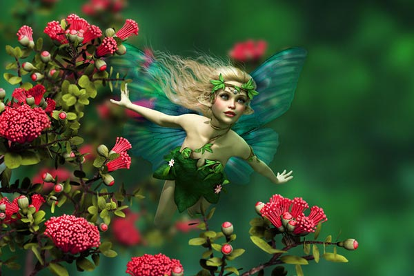 May Day, Beltane Fairy with Flowers