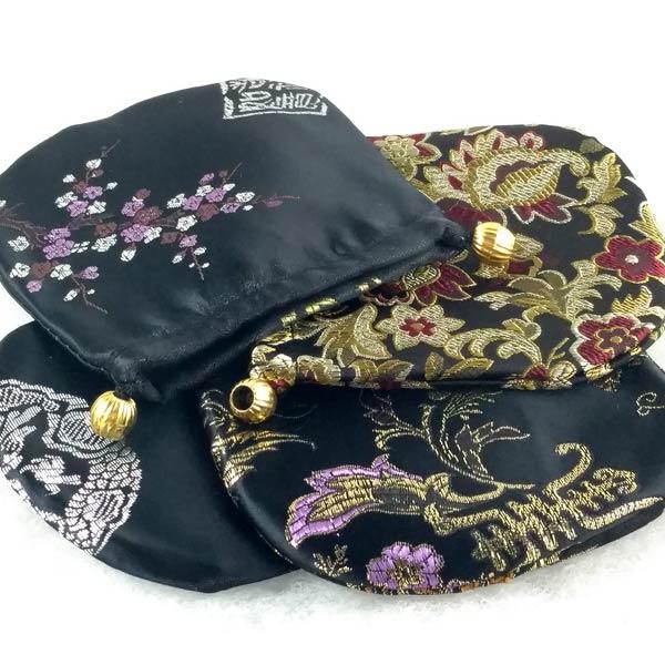 Black Patterned Gem Bags
