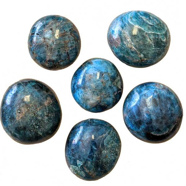 Blue Apatite Palm Stones