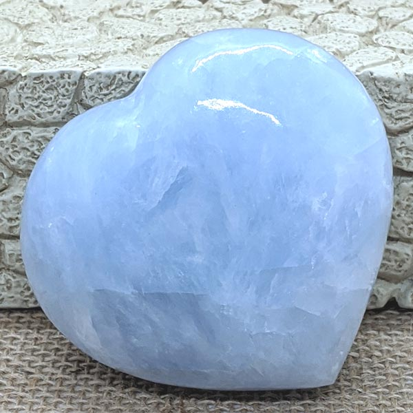 Blue Calcite Polished Heart