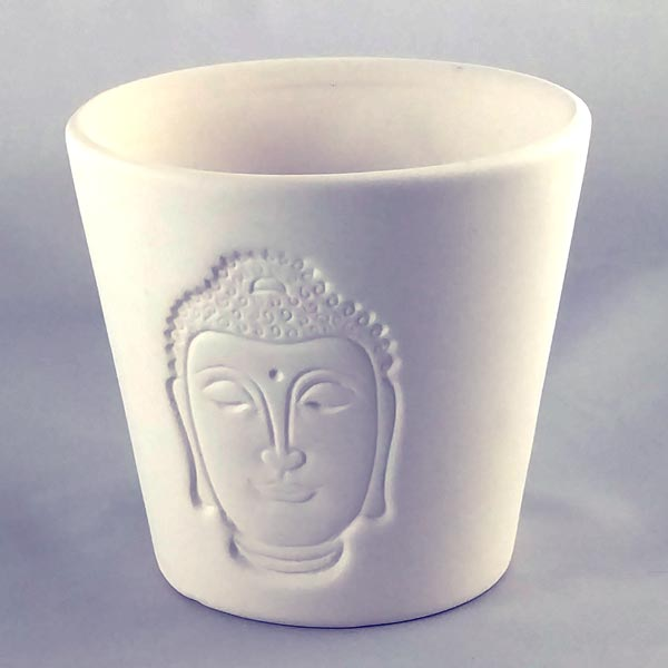 Clay Buddha Votive Holder