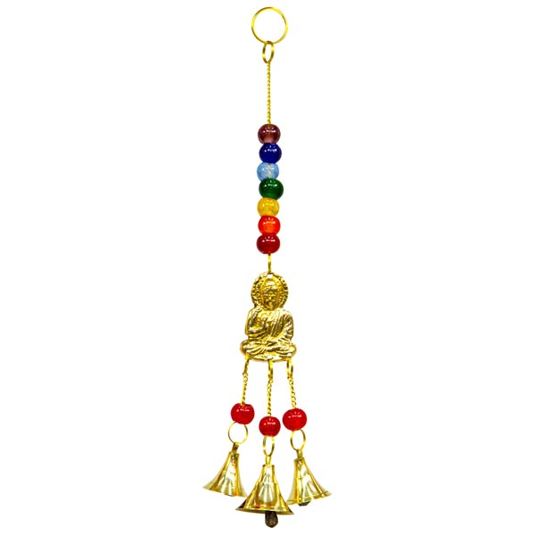 Buddha Hanging Bells with Chakra Beads