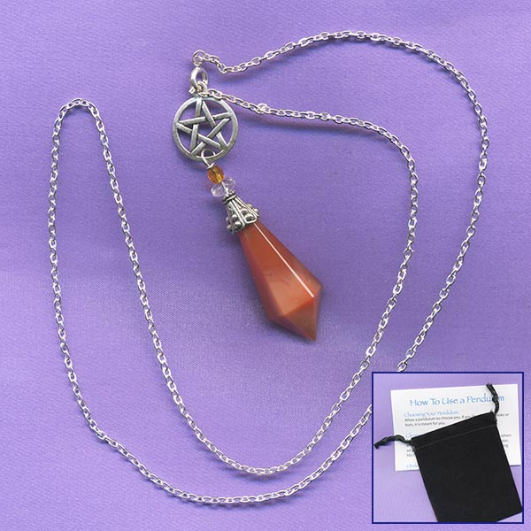 Carnelian Necklace Pendulum