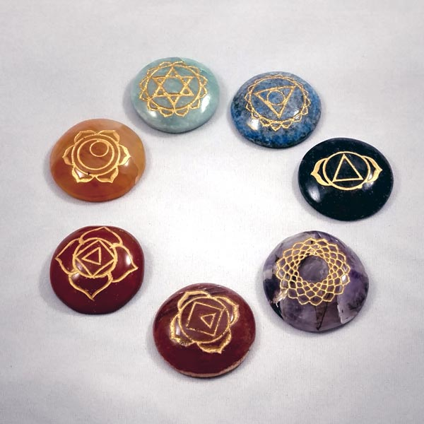 Carved Chakra Stones