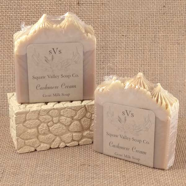 All Natural Cashmere Cream Goat Milk Soap Bar