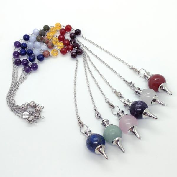 7 Chakra Sphere Pendulums