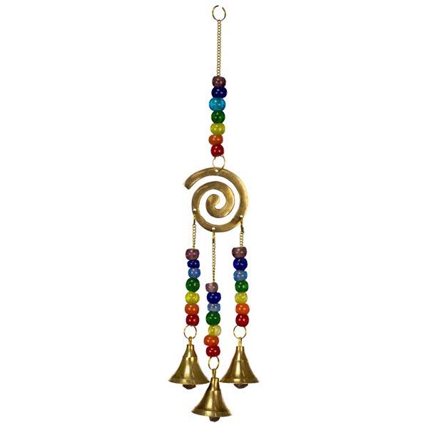 Chakra Spiral Hanging Bells