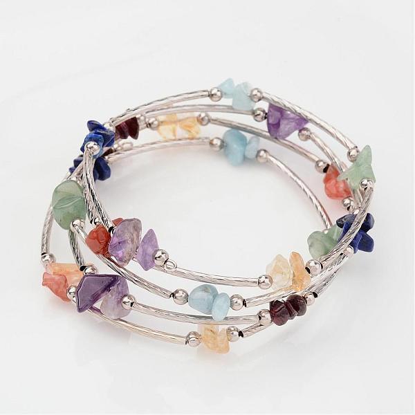 7 Chakra Gems Wrap Bracelet