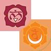 Chakra 1 and 2 Symbols