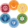 1st through 6th Chakras