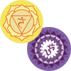 3rd and 7th Chakra