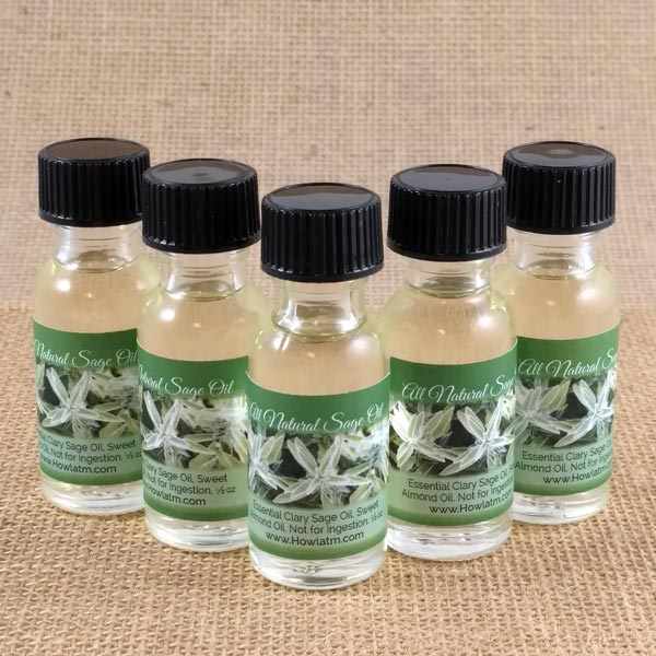 Half Oz. Bottles of Clary Sage Oil