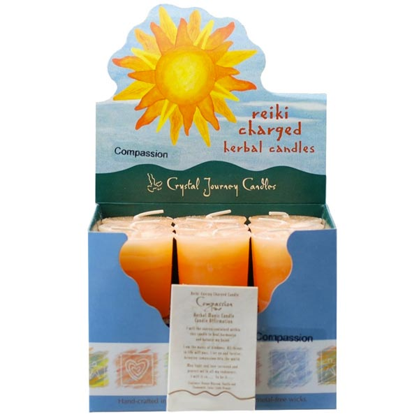 Reiki Charged Compassion Herbal Votives