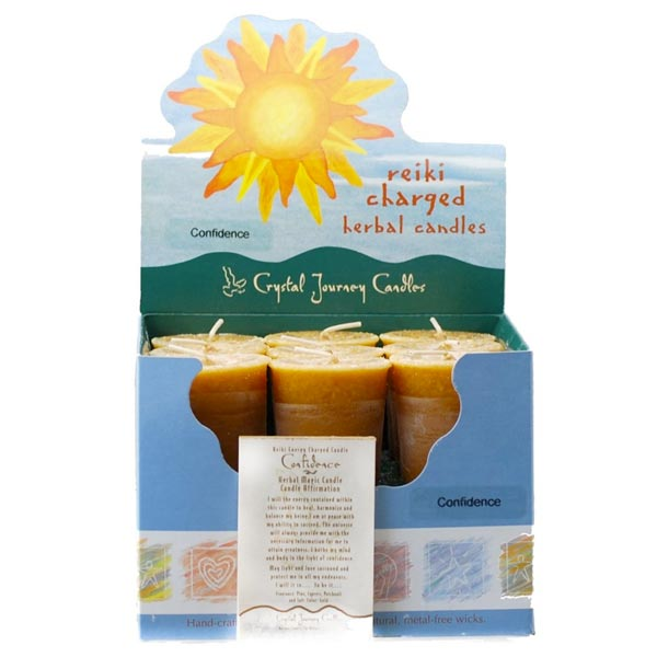 Reiki Charged Confidence Herbal Votives