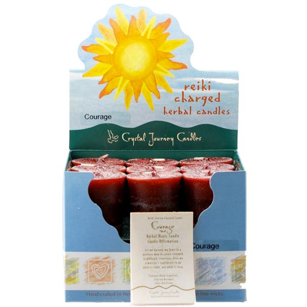 Reiki Charged Courage Herbal Votive