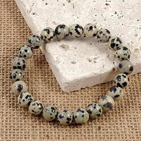 Stretchy Dalmation Jasper Bracelets