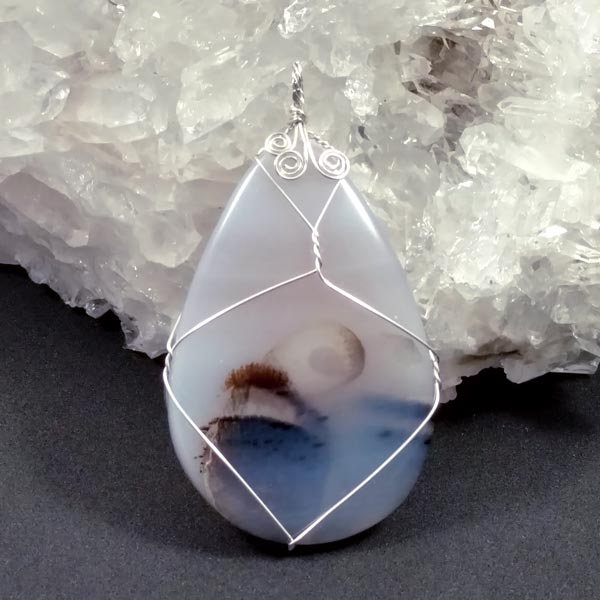 Dendritic Agate Sterling Pendant