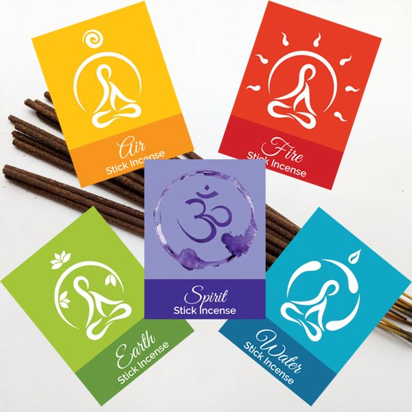 Elemental Stick Incense - set of 5