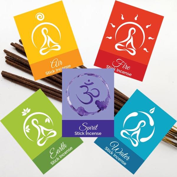 Elemental Stick Incense - set of 5