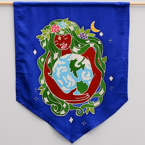 Gaia Earth Mother Flag