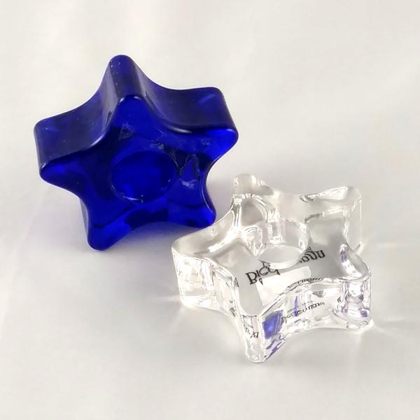 Glass Star Chime Candle Holders