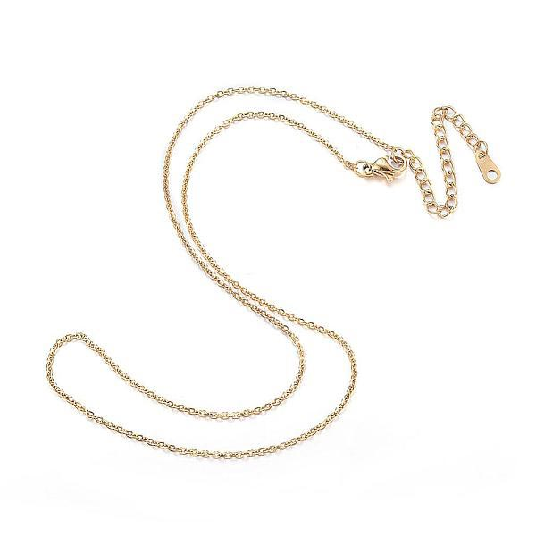 18 Inch Gold Stainless Steel Cable Chain (w/extender)