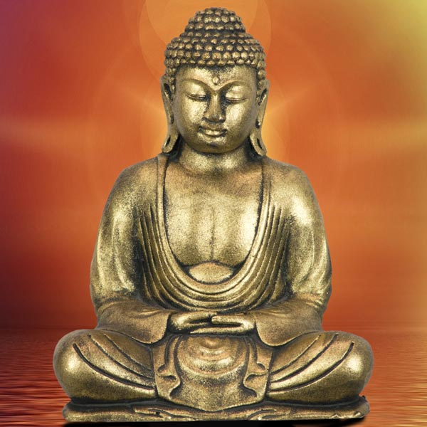 Meditating Golden Buddha Statue