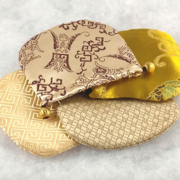 Gold Patterned Gem Bags