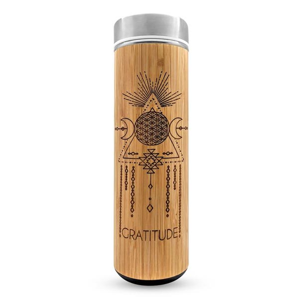 Gratitude Water Bottle - 17.9 oz