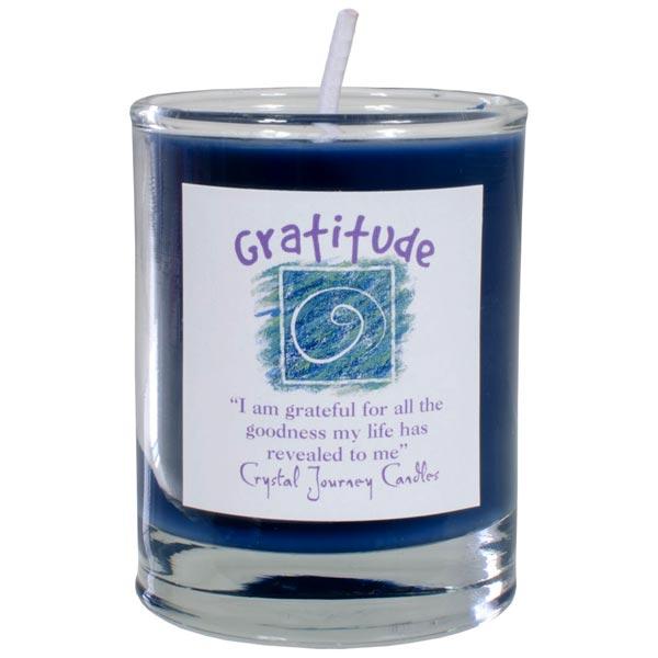 Gratitude Soy Votive in Glass Holder