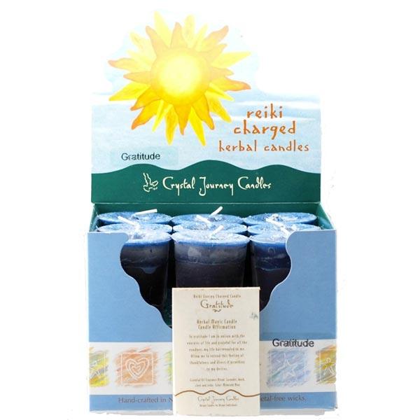 Reiki Charged Gratitude Herbal Votive