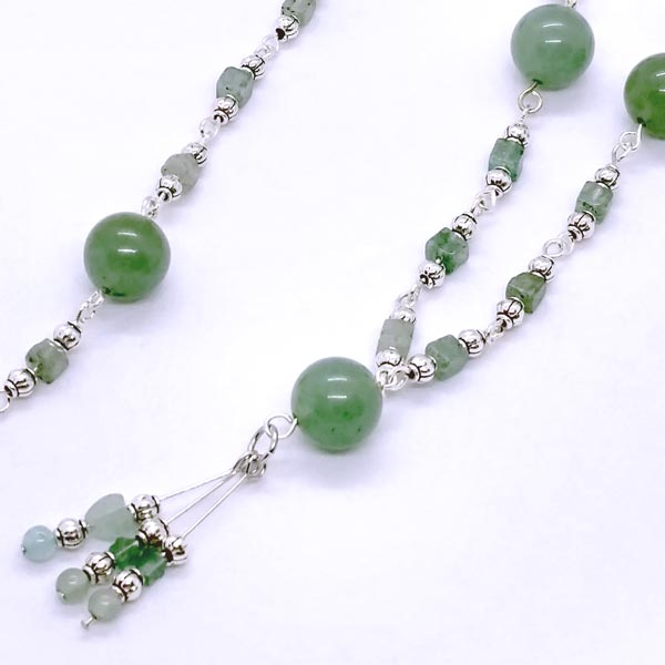 Green Aventurine Linked Necklace