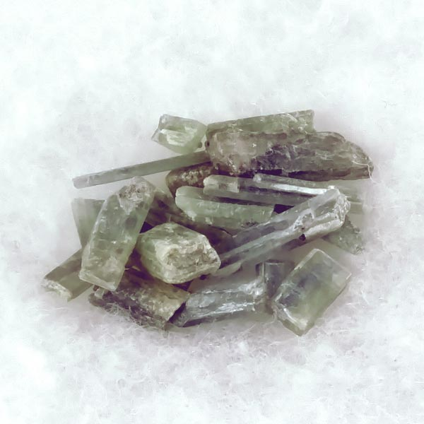 Green Kyanite Crystals