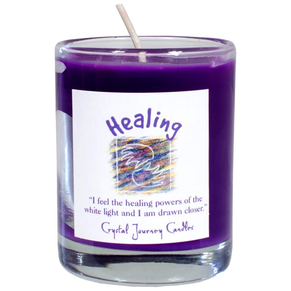Healing Soy Votive Candle in Glass Holder