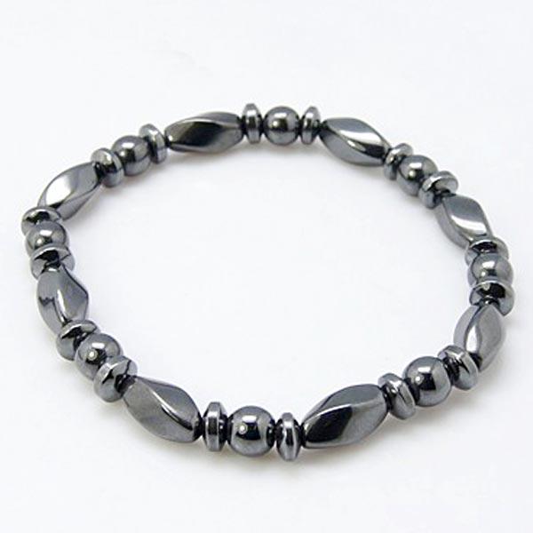 Hematite Fancy Beaded Bracelet