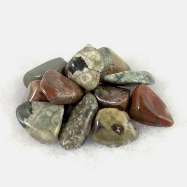 Rainforest Jasper Tumbled Stones