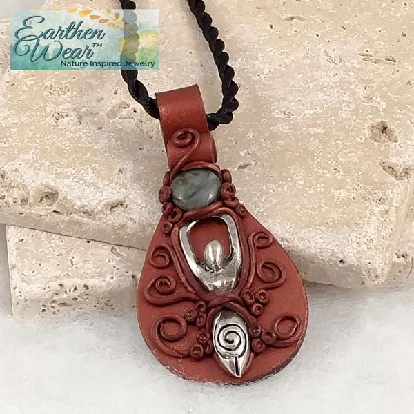 Labradorite Moon Earthen-Wear™ Pendant Necklace