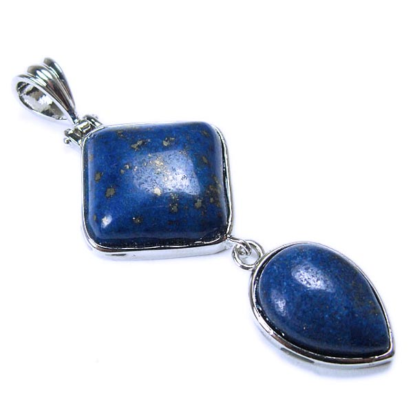 Lapis Lazuli Double Pendant