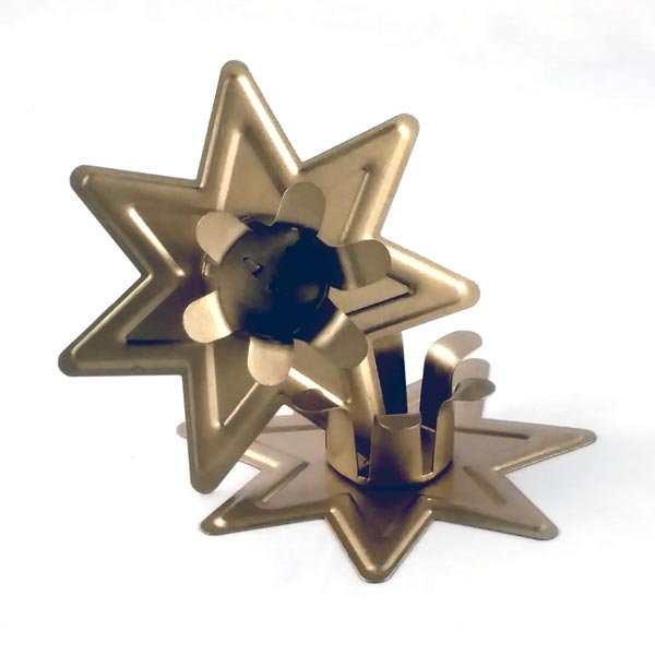 Large Gold Star Candle Holder